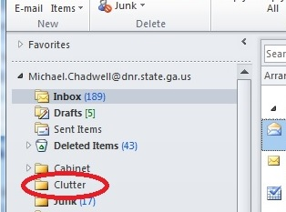 Image showing Clutter folder