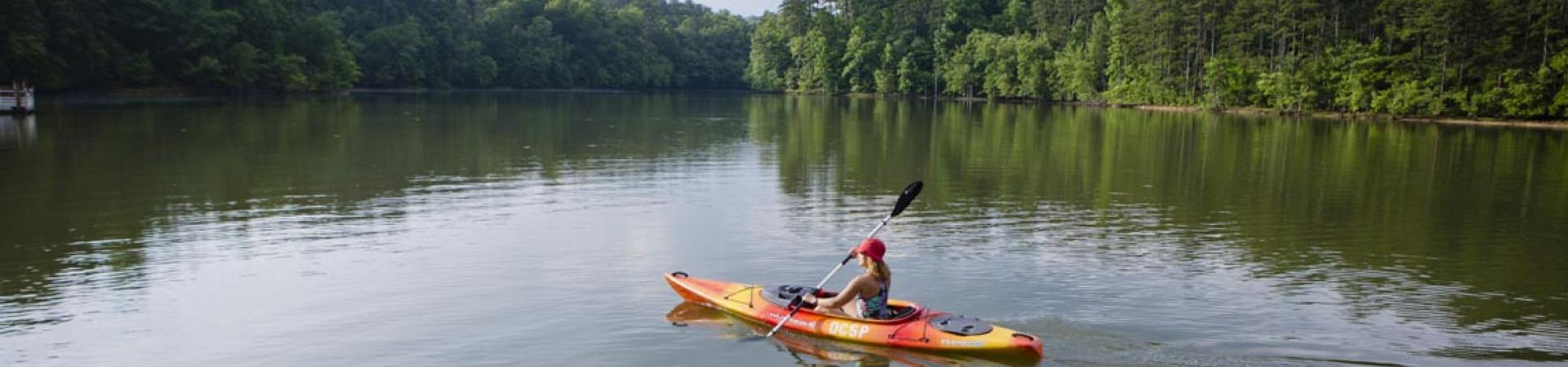 Kayaking at Don Carter State Park